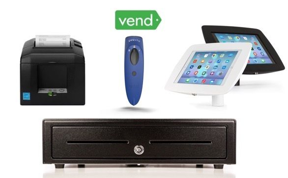 Vend Bundle No.40 - Receipt Printer,  Cordless Scanner, Cash Drawer, iPad Stand