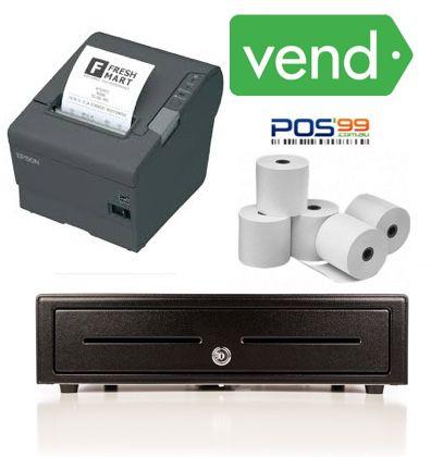 Vend Bundle No.3 Epson TM-T88VI LAN Printer, Cash Drawer, Paper (iPad/PC/Mac)