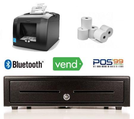 Vend Bundle No.2 - Compatible Bluetooth Printer, Cash Drawer, Paper