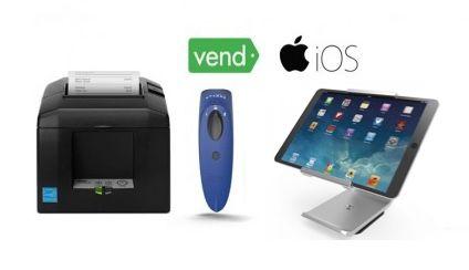 Vend iPad Compatible Bundle No.46 - Receipt Printer, Cordless Scanner, iPad Stand