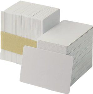 Zebra Blank PVC Cards With Signature 30 mil (500 Cards)