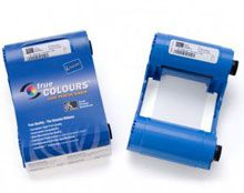 Zebra P110i & P120i color ribbon cart YMCKO (200 images per roll) with Cleaning