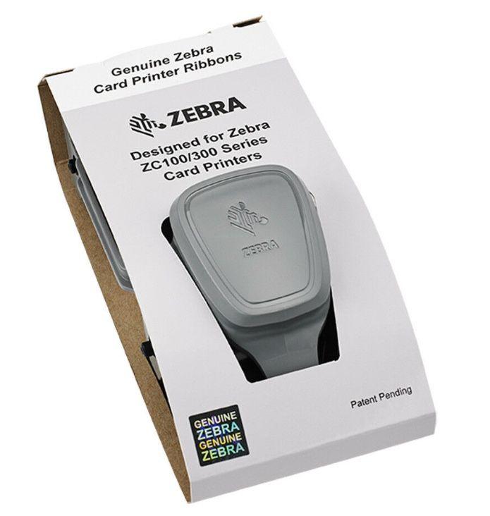 ZEBRA White Ribbon for the ZC300 ID Printer - 1,500 prints