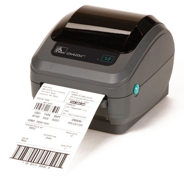Zebra GK420d Direct Thermal Label Printer (USB, Serial, Parallel)