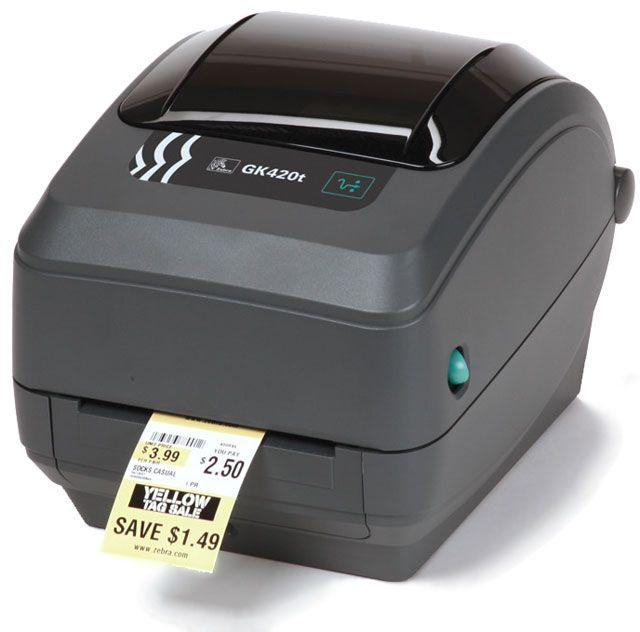 Zebra GK420t Thermal Transfer Label Printer (USB,Serial,Parallel)